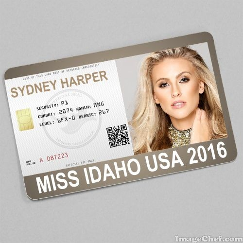 Sydney Harper Miss Idaho USA 2016 card
