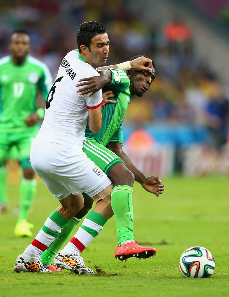 Javad Nekounam & Emmanuel Emenike : Iran v Nigeria: Group F