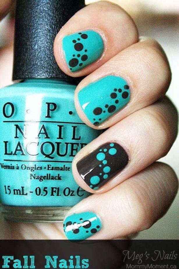 Black&blue nails