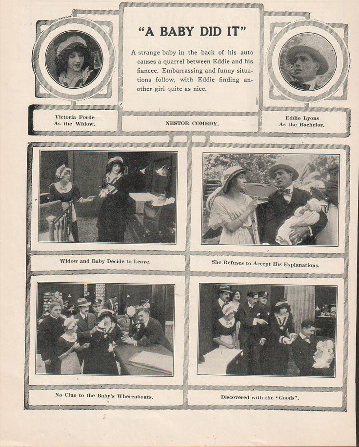 A Baby Did It Nestor Comedy | Victoria Forde Eddie Lyons Lee Moran 1914 Ad