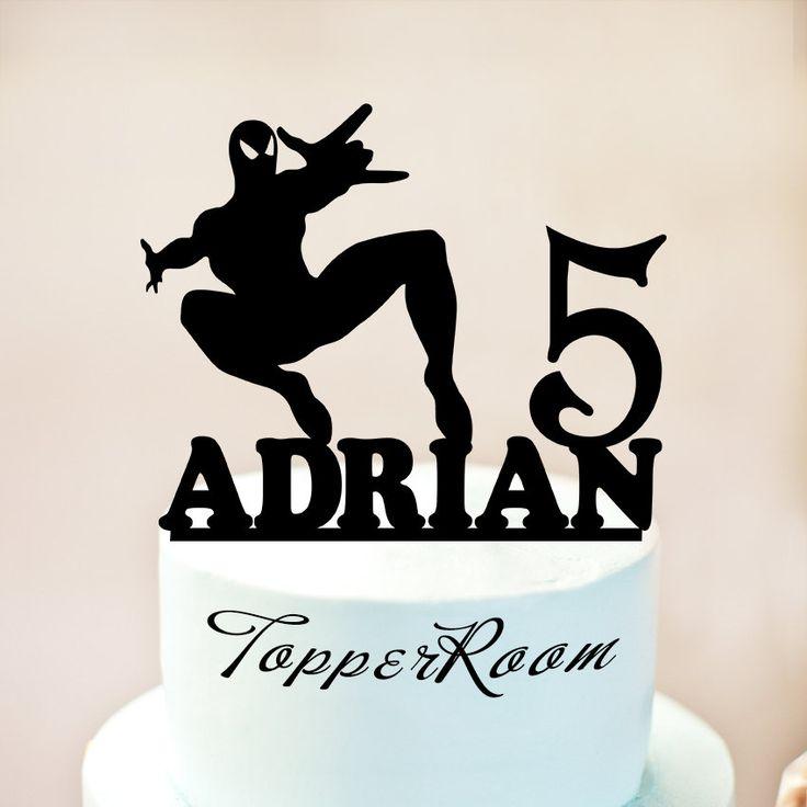 Spiderman Cake topper Spiderman Birthday Cake