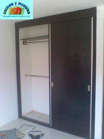 closets economico en melamina llama al 42119803 www.cocinasymuebles.com -   closets economicos, closets minimalistas