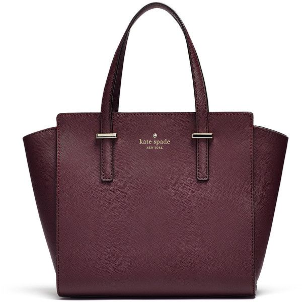 Rental kate spade new york accessories Mulled Wine Hayden Bag (£30) ❤ liked on Polyvore featuring bags, handbags, shoulder bags, purple, leather satchel bag, leather handbags, purple leather purse, leather shoulder handbags and genuine leather satchel