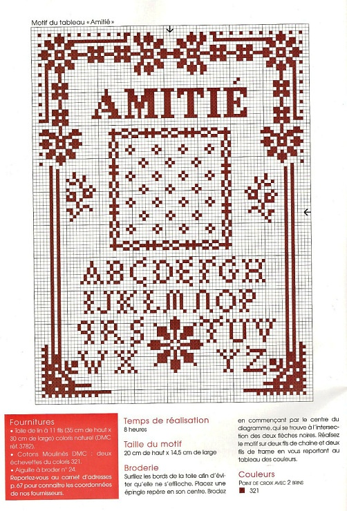 Points de croix *@* cross stitch alphabet