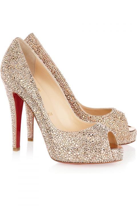 online store e05d9 be2d0 Bridal Shoes / Christian Louboutin Embellished Pumps ...
