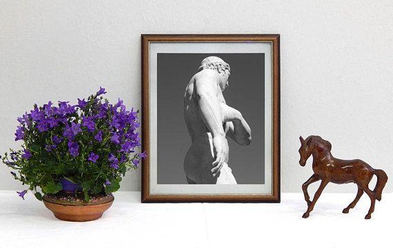 Art print di fotografia in bianco e nero serie: Marmi di