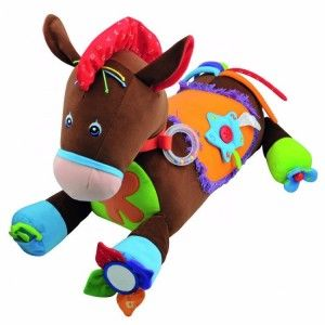TONY THE PONY For the wee tacker you can pick up Tony the Pony at the Gift Horse Shop for $139.95 Tony the Pony is a big bundle of fun for your little one. He whinnies, has crinkly, alphabet hair and long colourful tail. Babies can hug & ride on Tony the Pony and will be entertained with 20 different types of learning activities: teether's, rattle's, mirror, button, zipper and much more! Activities cover all stages of development from 6mths to 3 years.