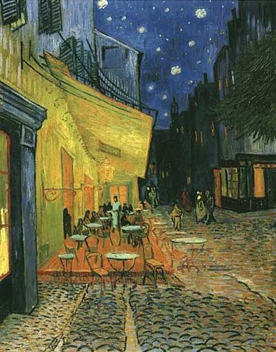 formal analysis the cafe terrace on the place du forum arles at night Important art by vincent van gogh with artwork analysis of achievement and  overall contribution to the arts  café terrace at night (1888) artwork  description & analysis: this was one of the first scenes van gogh painted during  his stay in arles and the first  it amuses me enormously to paint the night right  on the spot.
