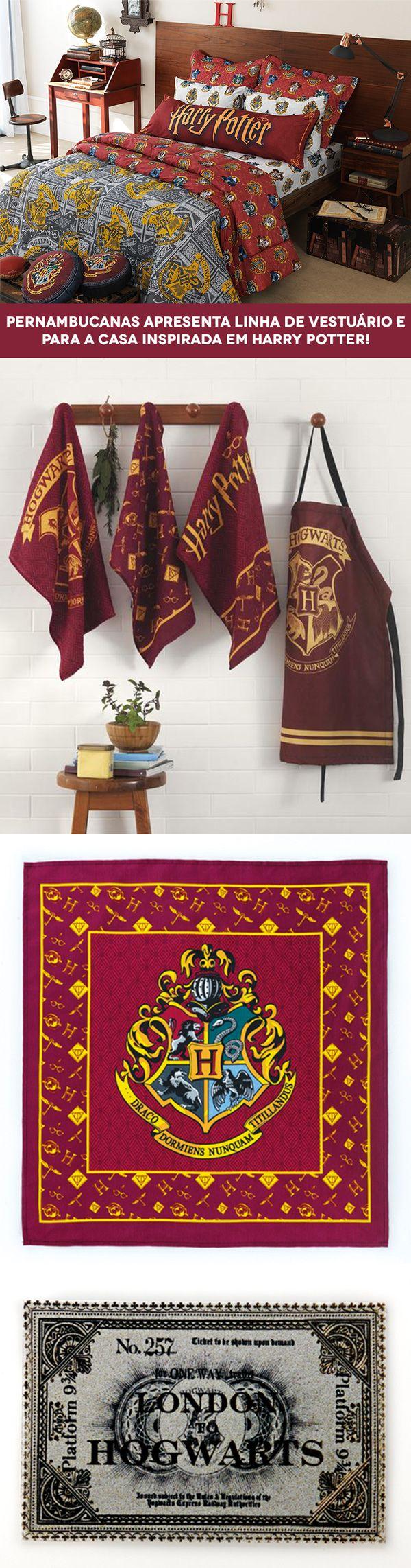 Se você é fã de Harry Potter, pode ir juntando suas economias, porque a Pernambucanas está lançando uma coleção sensacional de vestuário e uma linha completa para a casa inspirada na saga de J.K. Rowling.