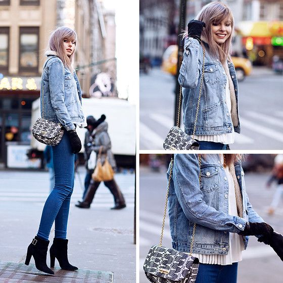 Jana Wind - Topshop Jacket, Topshop Jeans, Mysuelly Bag - Jeans jeans jeans