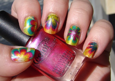 Color Club Take Wing CollectionSmashley Sparkle, Neon Flower, Colors Club, Wings Collection, Rainbows Watermarble, Marbles Wednesday, Water Marbles, Watermarble Httpbitlyhimzu4, Marbles Nails