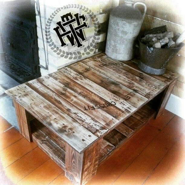 Made for a local business 'Kaimai valley crossfit' from old pallets #killingtime #table #pallets #handmade #handpainted #fortheworthy #ftw