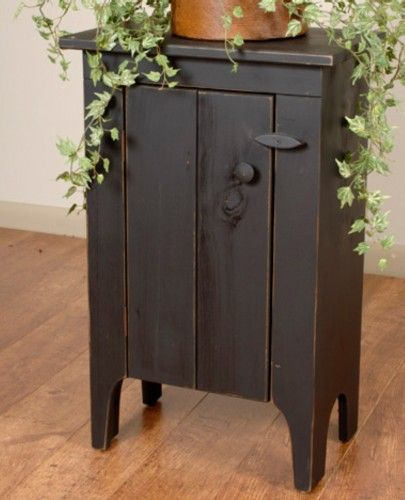 Rustic primitive Amish style cupboard stand side table