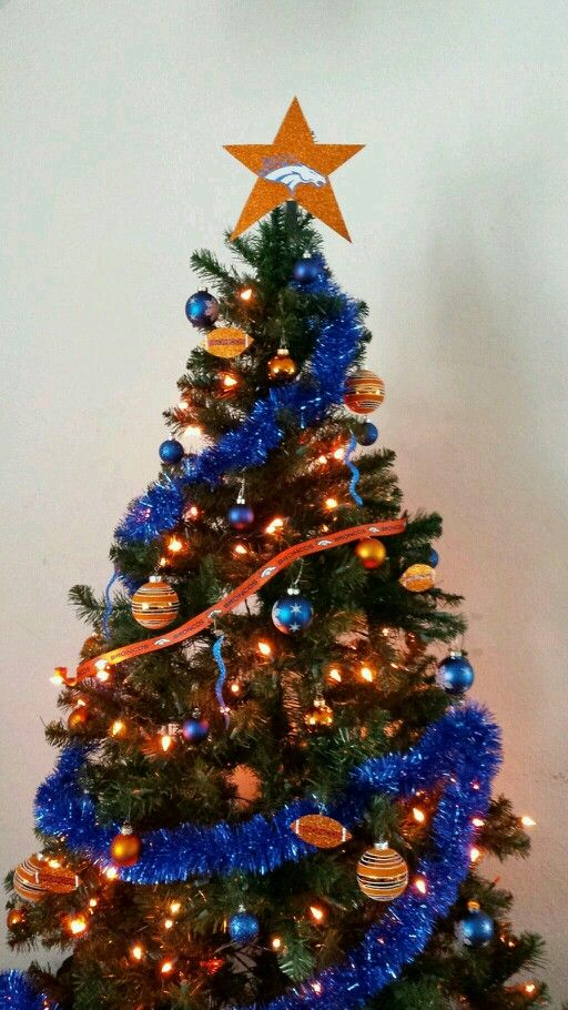 28 Best Denver Broncos Christmas Deco Images On Pinterest