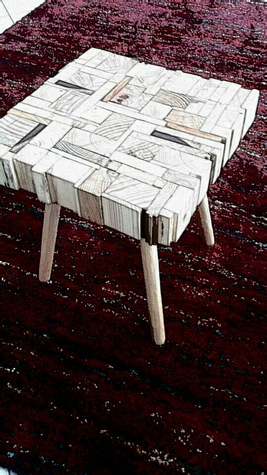 Puzzle coffee side table.