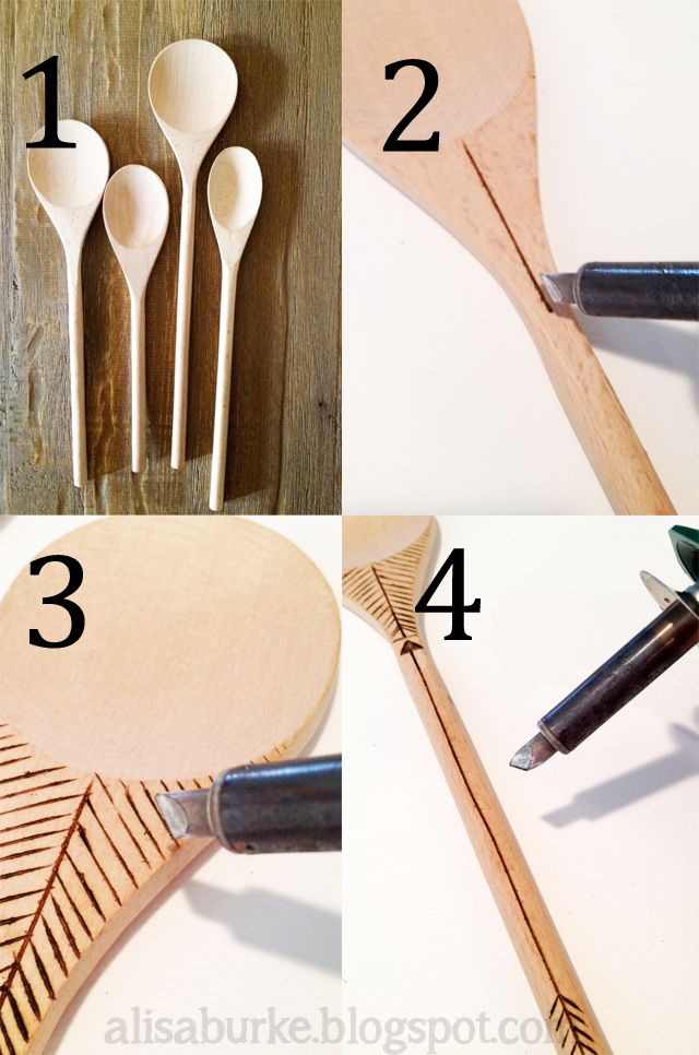 """alisaburke: tutorials--pyrography on wooden spoons--this """"wood"""" be a good place to start practicing:)"""
