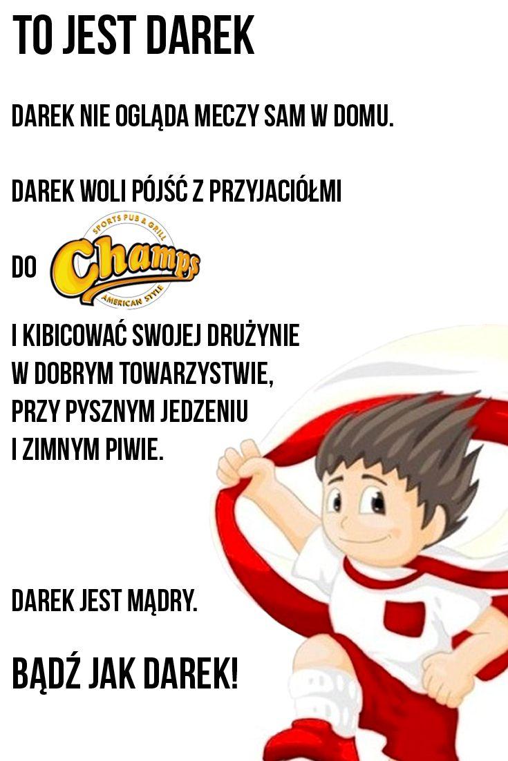 Bądź mądry, bądź jak Darek! :) Już dziś zapraszamy na mecz Polska - Białoruś, 20:30, Restauracja Champs - obecność obowiązkowa! ;) #match #parkhotellyson