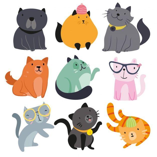 collection animaux dessinés à la main Vecteur gratuit - FREEPIX