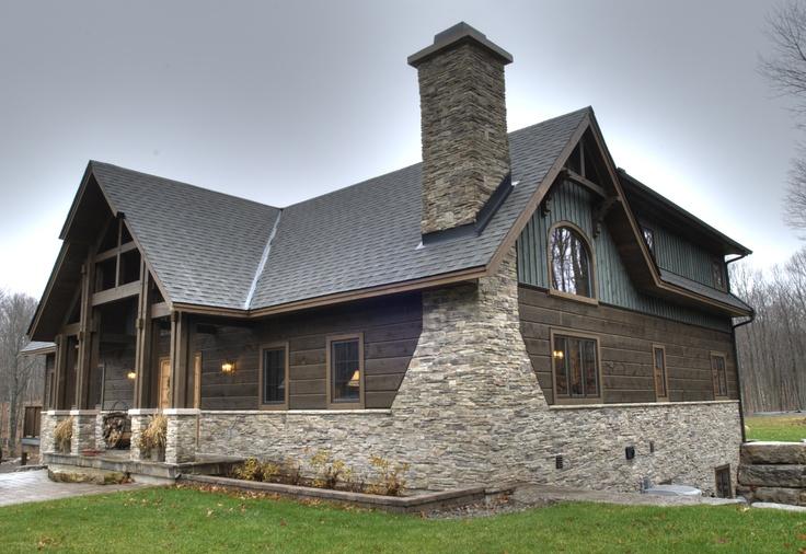 Our Amazing Smokey Mountain Model Timber Frame Home #TimberFrame #Log #Custom #SmokeyMountain #DiscoveryDreamHomes