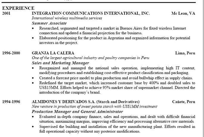 job history resume - Google Search
