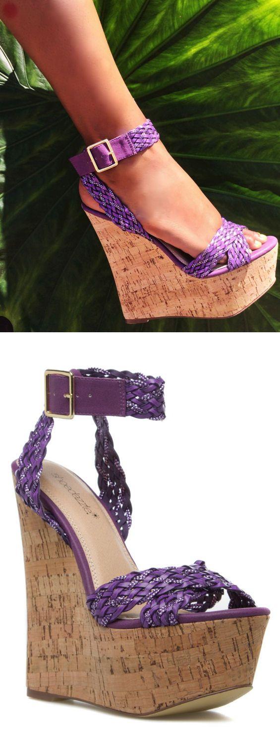 Purple Braided Wedges ♥