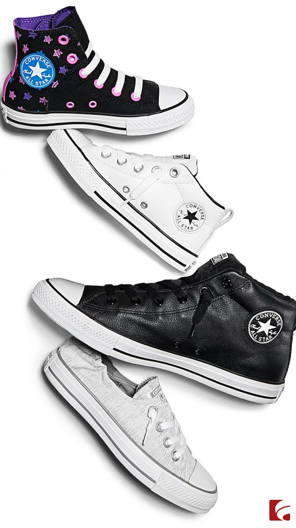 The classics never really go out of style. When it comes to casual cool, you can't go wrong with Converse. From throwback canvas Converse Chuck Taylor All Stars in high and low tops, to leather updates on classic silhouettes, we have it all. Converse believes that creativity lives within everyone. And Converse sneakers are a blank canvas for self-expression and creativity. Explore all our Converse styles on famousfootwear.com!
