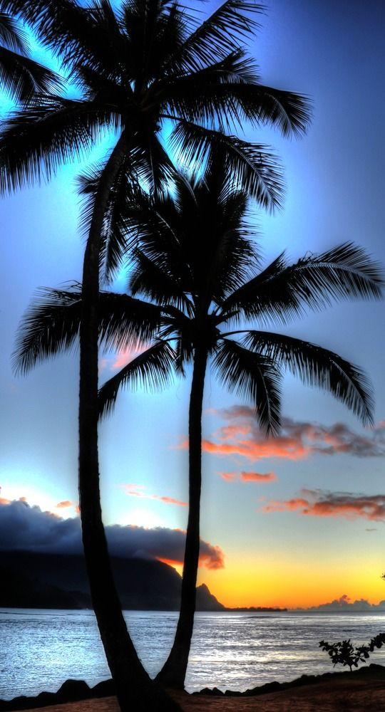 Le meravigliose atmosfere delle Hawaii. #HanaleiBay, #Hawaii #tramonto #sunset #isole #vacanze
