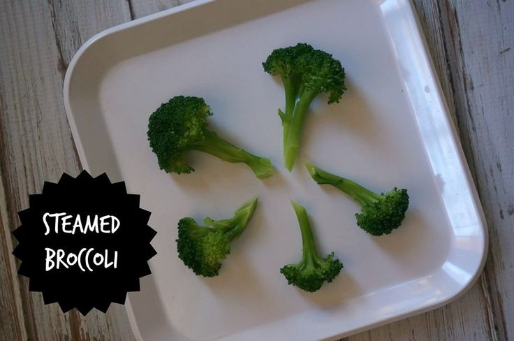 DSC00baby led weaning first food ideas- steamed broccoli