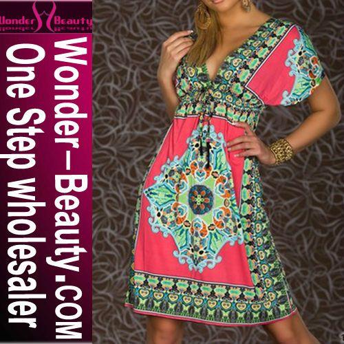 Vistoso Estampado Vestido Atractivo De Las Mujeres-Vestidos del club-Identificación del producto:300000117998-spanish.alibaba.com