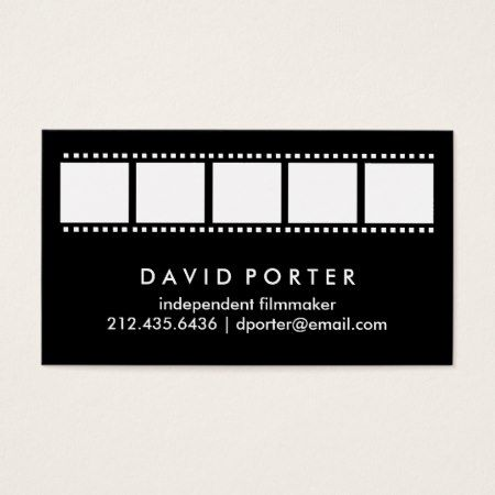 375 best business cards you can buy online images on pinterest black and white film strip business card reheart Gallery