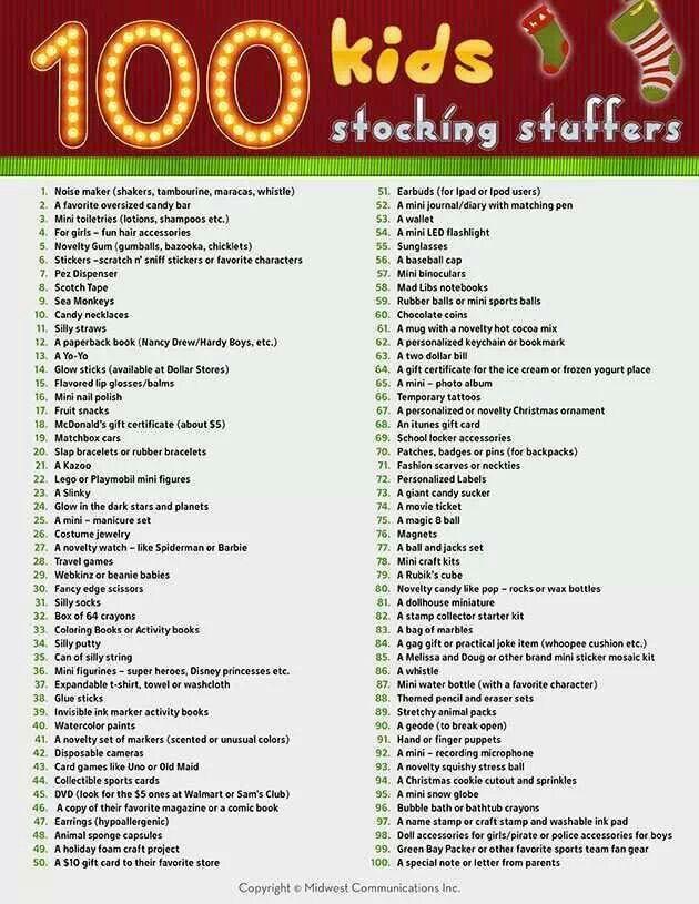 100 children's' gift ideas   children's stocking filler presents