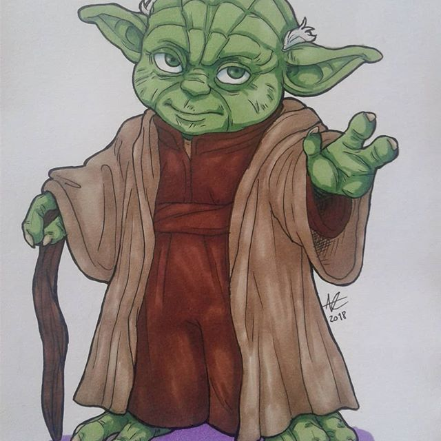 Loving This Yoda By Analytically Creative Color Coloring Draw Drawing Starwars Yoda Chameleonpens Drawings Illustration Art Chameleon Pens Markers