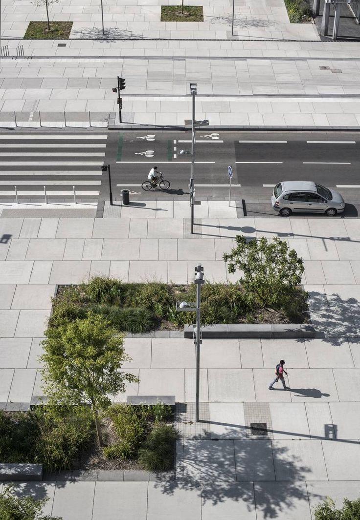 Rénovation urbaine du centre-ville - Empreinte - Bureau de paysages