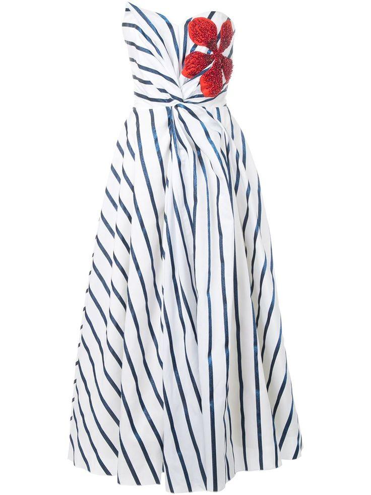 Ingie Paris полосатое платье без бретелек