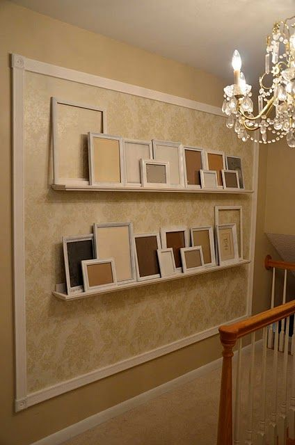 Picture frames: Photos, House Ideas, Photo Gallery Walls, Wallpaper, Photo Wall, Accent Photo, Photo Galleries, Accent Wall