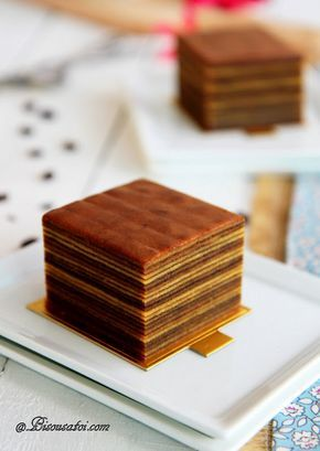 Indonesian Mocha Layer Cake. As if I didn't kill myself enough with the crepe cake this winter, heh.