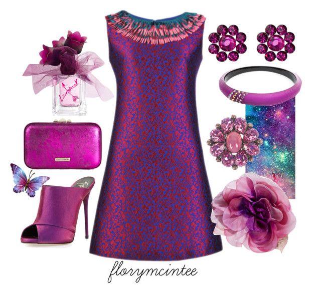 """Purple Passion"" by florymcintee ❤ liked on Polyvore featuring Vera Wang, Tarina Tarantino, Gucci, Christian Dior, Giuseppe Zanotti, Rebecca Minkoff and Alexis Bittar"
