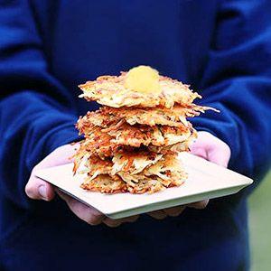 Festive & Fun Hanukkah Crafts & Recipes: Potato Latkes (via Parents.com)