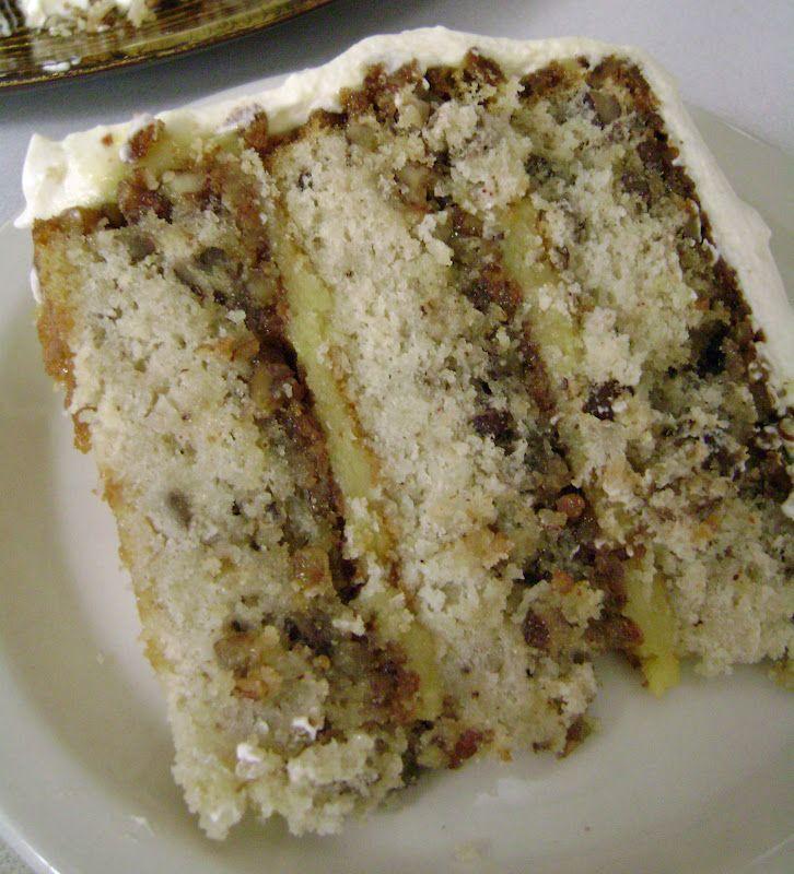 Pecan Pie Cake with Cinnamon Whipped Cream Custard Frosting Recipe ...