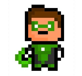 GREEn lantern Pixel Art | Hal Jordan, the Human Green Lantern and founding member of the Justice ...