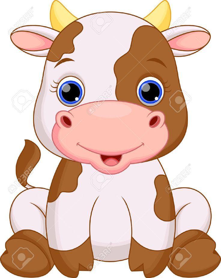 Pin De Maria En Dibujos Animales Bebes Animados Vacas