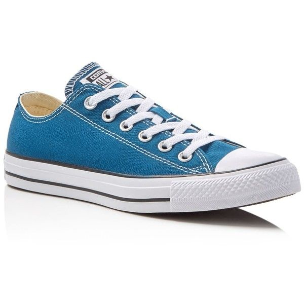 Converse Chuck Taylor All Star Lace Up Sneakers ($58) ❤ liked on Polyvore featuring shoes, sneakers, blue lagoon, lacing sneakers, converse footwear, star shoes, canvas lace up sneakers and blue shoes