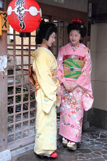 Geiko Sayaka and maiko Satsuki