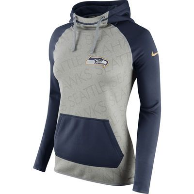 womenu0027s seattle seahawks nike gray drive gold collection all time performance pullover hoodie - Seattle Seahawks Gear