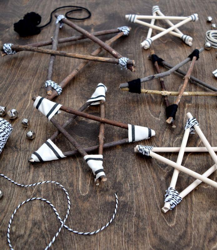 Rustic and Modern Twig Stars