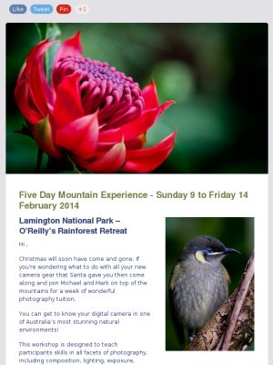 Check out the details on our upcoming Five Day Mountain Experience Photography Workshop