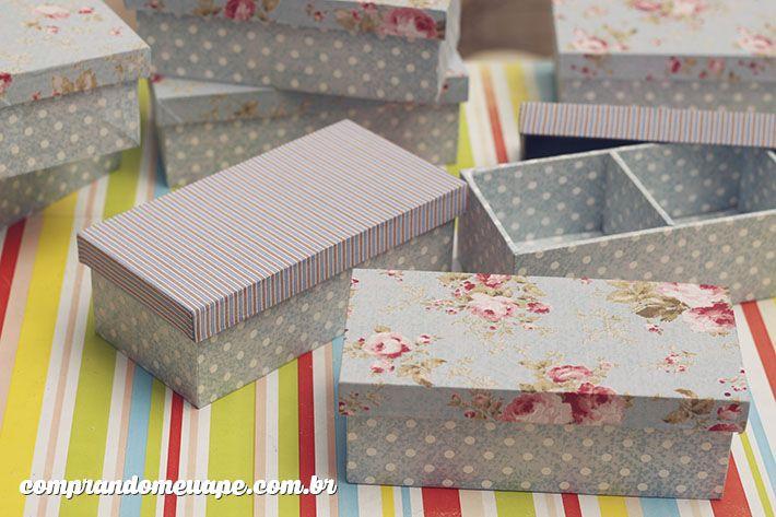 Como fazer caixas de MDF com tecido para convite de casamento e presente para madrinhas e padrinhos. Saiba mais no blog clicando na foto!