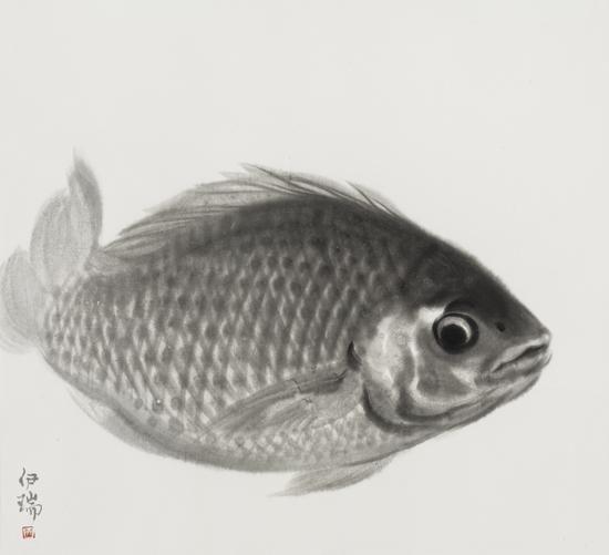 鱼系列 92x83cm 宣纸水墨