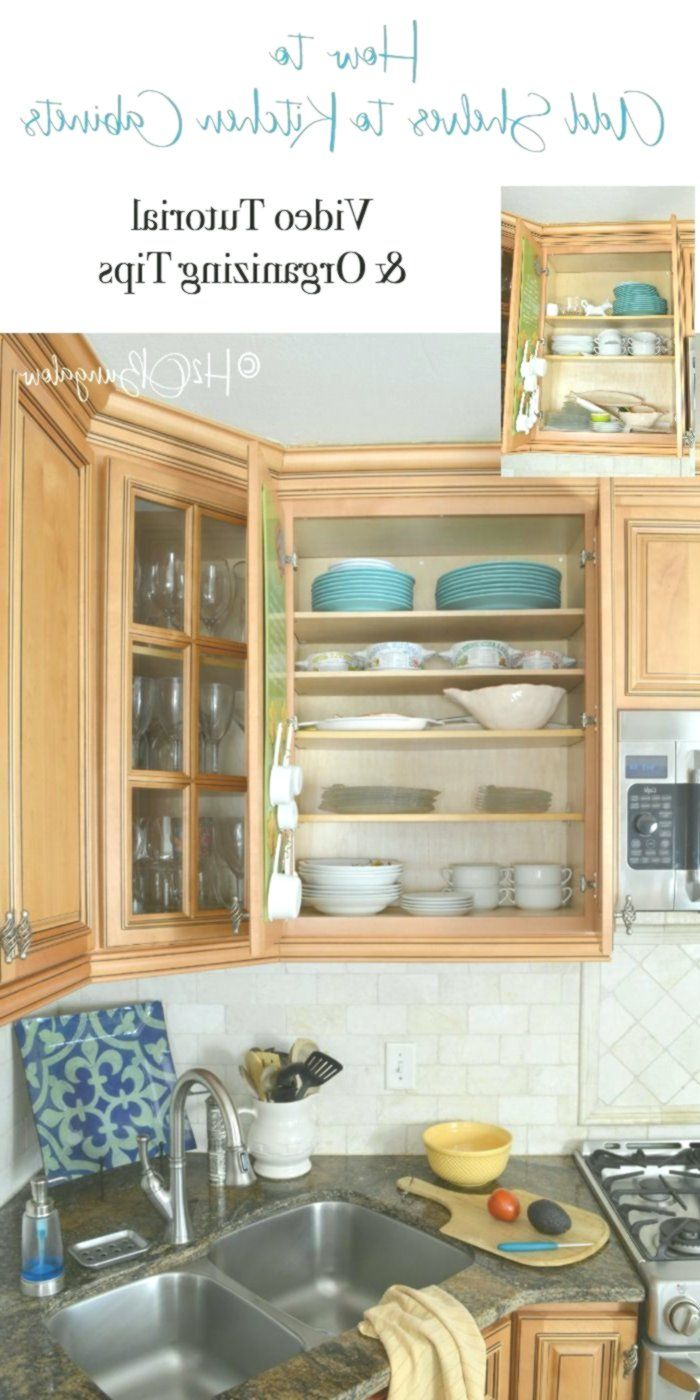 How To Add Extra Shelves To Kitchen Cabinets Add Cabinets Extra Kitchen Shelves New Kitchen Cabinets Kitchen Design Kitchen Renovation