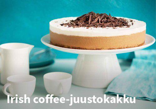 Irish coffee-kakku, Resepti: Valio #kauppahalli24 #pääsiäinen #ruoka #resepti #kakku